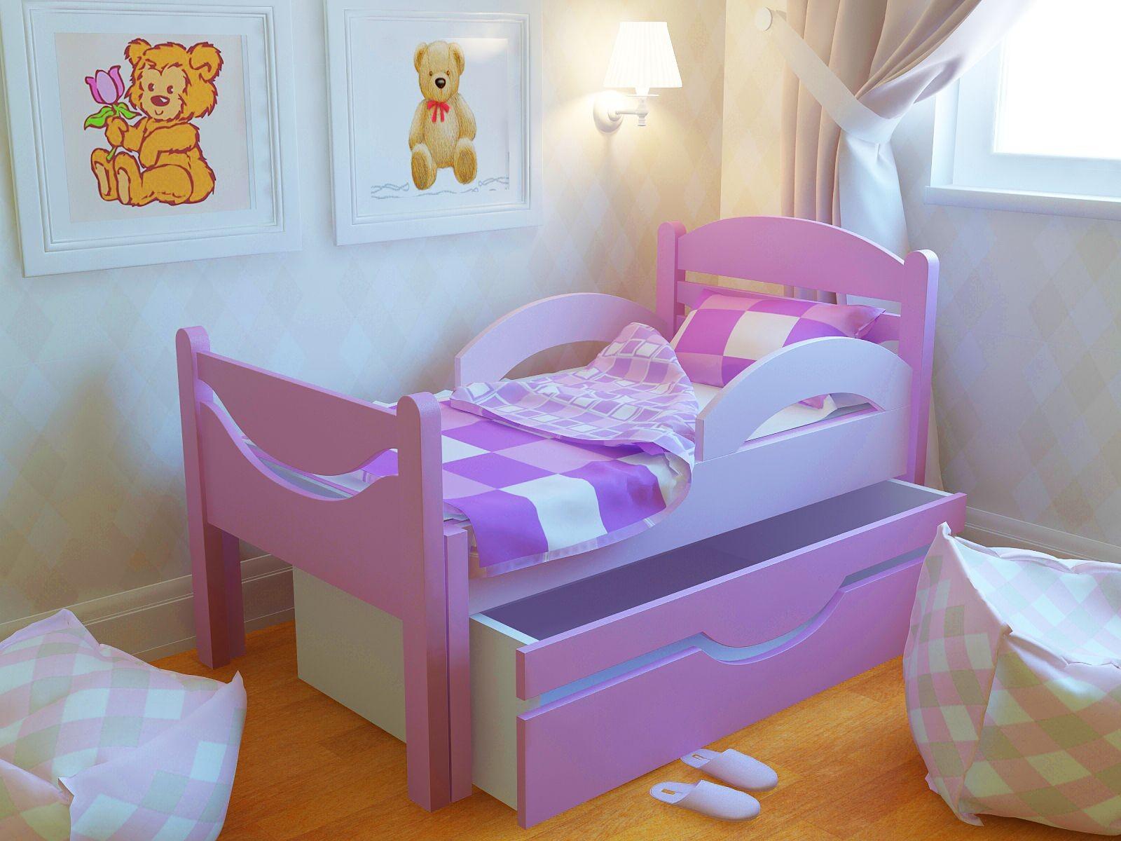 Кровать для ребенка от 3 лет с бортиком своими руками
